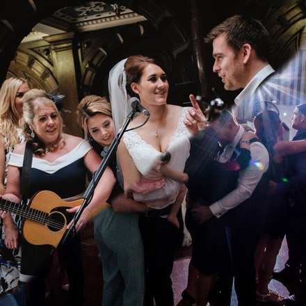 With options from performing as part of the ceremony through to a floor filling evening party with DJ, Alex has a package suitable for any budget with options as a solo act, high energy duo or show stopping party band!