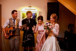 Some pre-party wedding fun in the Piano Bar - Credit Nick English Photography