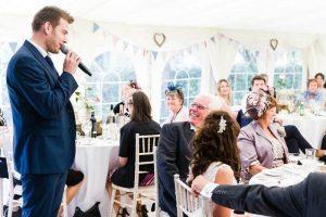 Alex as your wedding host